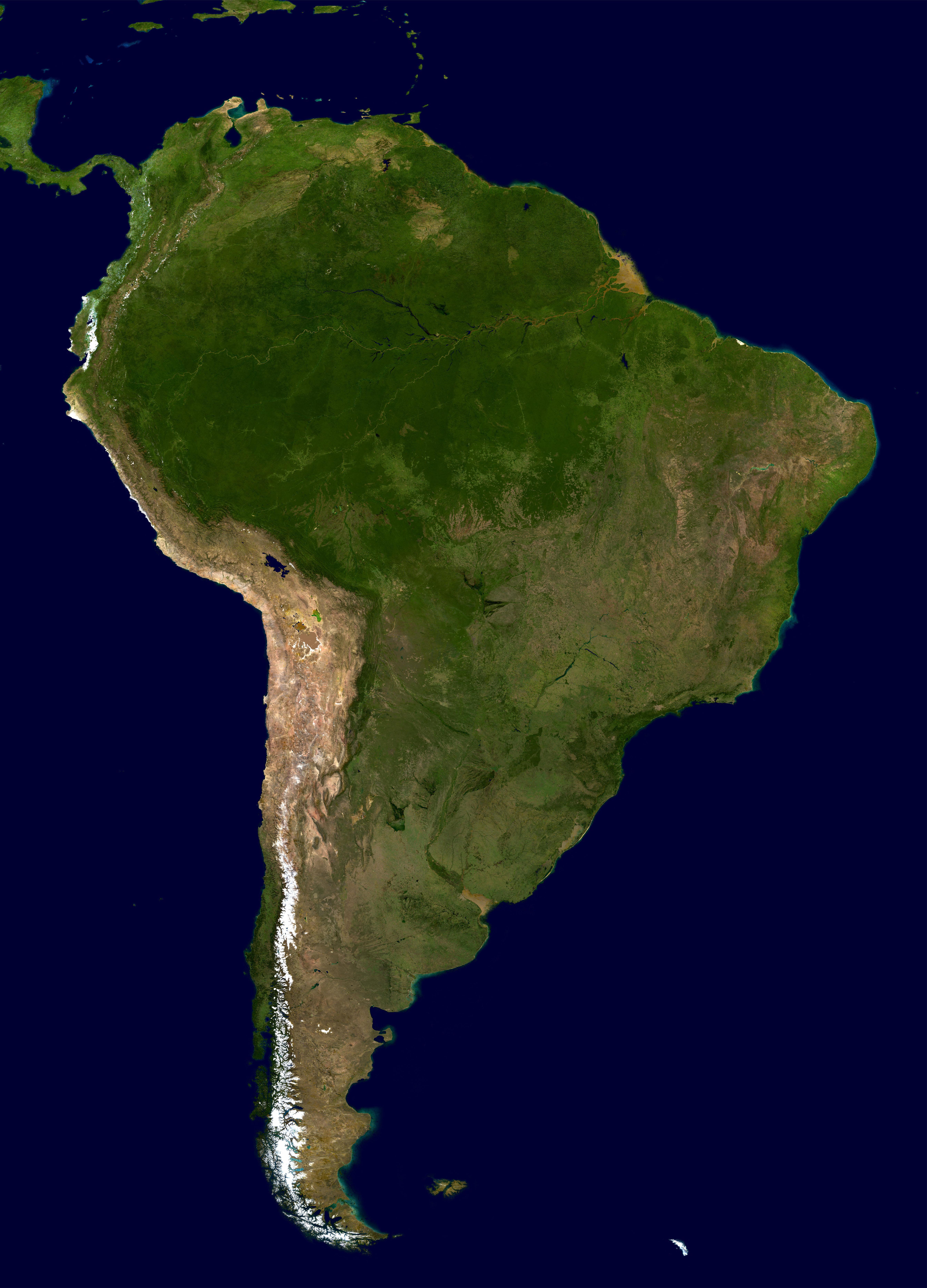 Южная Америка geography